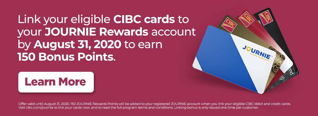 Link your eligible CIBC cards