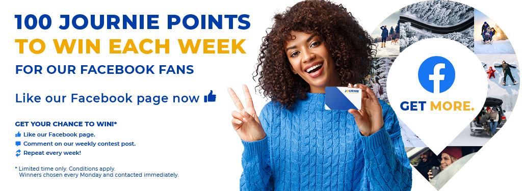 100 Journie points to win each week